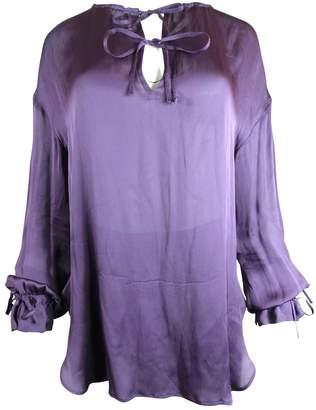 Saint Laurent Purple Silk Tops