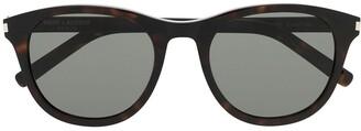Saint Laurent Eyewear Tortoiseshell Tinted Sunglasses