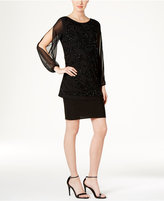 R & M Richards Embellished Popover Dress