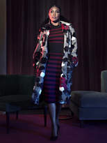New York & Co. Gabrielle Union Collection - Faux-Fur Trim Tweed Statement Coat