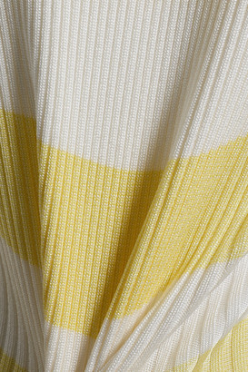 Zimmermann Striped Ribbed-knit Turtleneck Sweater