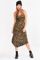 Silence & Noise Silence + Noise Axel Leopard Bias-Cut Midi Slip Dress