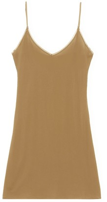 Ganni Rayon Slip Dress in Tannin