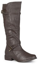 Journee Collection Women's Buckle Accent Tall Boots