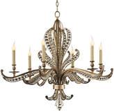 John-Richard Collection Beaded 6-Light Chandelier - Silver