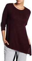 Joe Fresh Softy Long Sleeve Asymmetrical Hem Knit Tee