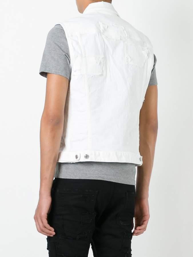 DSQUARED2 distressed sleeveless denim jacket