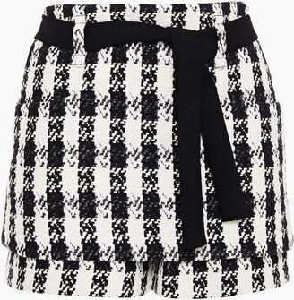 Maje Icky Layered Cotton-blend Tweed Shorts
