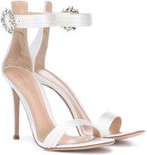 Gianvito Rossi Portofino 105 satin sandals