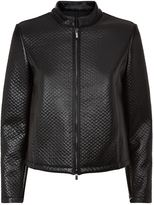 Armani Collezioni Textured Leather Biker Jacket