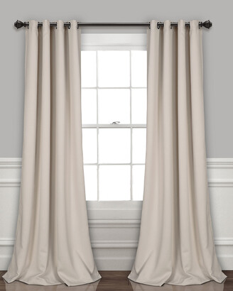 Triangle Home Fashion Lush Decor Insulated Grommet Blackout Curtain Panels