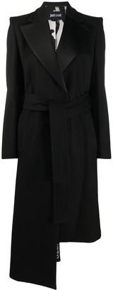 Just Cavalli Belted Asymmetric Coat