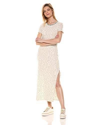 3bc7ce34c5c Women's VH5881 SLUB Stripe Knit T-Shirt Dress