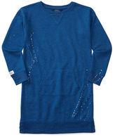 Ralph Lauren Girls 7-16 Woven Terry Sweatshirt
