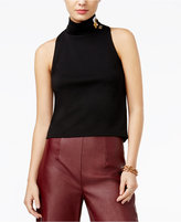 GUESS Gwendolyn Embellished Mock-Neck Top