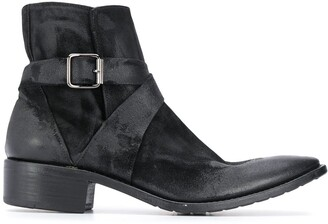 Premiata Distressed-Effect Ankle Boots