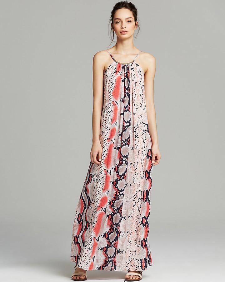 Aqua Maxi Dress - Anaconda Bar Trim