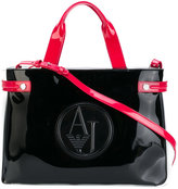 Armani Jeans logo embossed tote - women - Polyester/Viscose - One Size