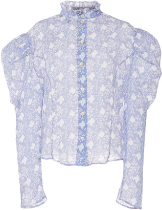 Isabel Marant Emsley Cotton And Silk Blouse