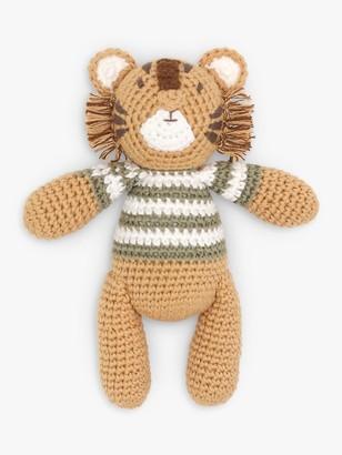 Albetta Crochet Tiger Rattle Toy