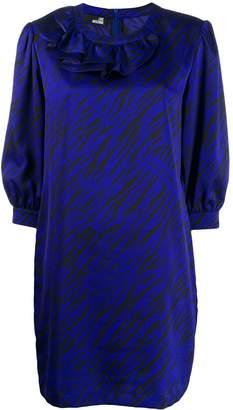 Love Moschino zebra print satin dress