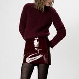 Maje Patent cowhide miniskirt