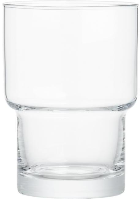 Crate & Barrel Stack Double Old-Fashioned Glass