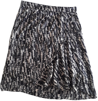 Stefanel Black Silk Skirts