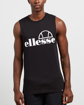 Ellesse Men's Black Muscle Tops - Terri Muscle Tank - Size M at The Iconic