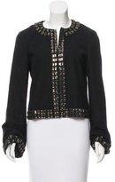 Tory Burch Embellished Wool Blazer