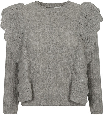 Philosophy di Lorenzo Serafini Ruffle Detail Ribbed Sweater