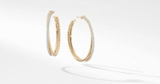 David Yurman The Crossover Collection Xl Hoop Earrings In 18K Yellow