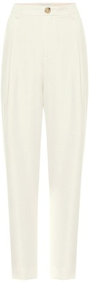 Vince High-rise tapered crepe pants