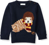 Ralph Lauren Dog Cotton-Blend Sweater