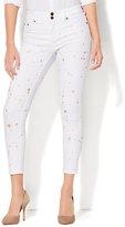 New York & Co. Soho Jeans - Painted High-Waist Ankle Legging - White