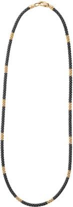 Lagos Gold & Black Caviar Rope Necklace