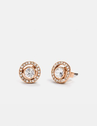 Coach Pave Ring 2-In-1 Stud Earrings