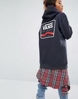 Vans Oversized Dark Gray Hoodie With Logo Back