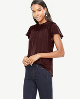 Ann Taylor Pleated Flutter Top