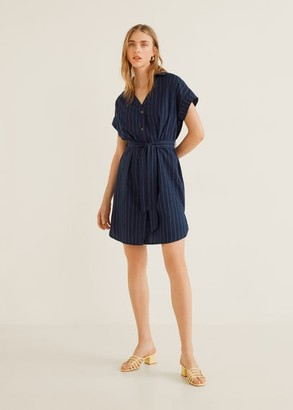 MANGO Cotton shirt dress