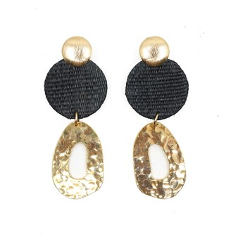 Soli & Sun The Georgina Black Upcycled Handcrafted Statement Earrings