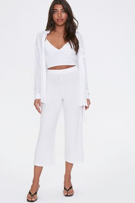 Forever 21 Ribbed Cropped Pants