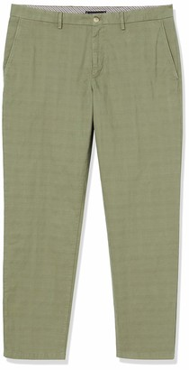 Tommy Hilfiger Men's Tapered Pow Check Structure Gmd Trouser Grun W30/L32
