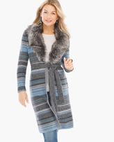 Chico's Faux-Fur Elaine Cardigan