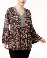 Style&Co. Style & Co Plus Size Printed Babydoll Tunic, Created for Macy's