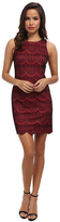 Jessica Simpson JS4P6482 Scalloped Lace Sheath Dress