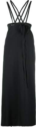 Y's tie fastening high-waisted skirt