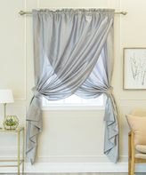 Best Home Fashion Gray Overlap Curtain Panel