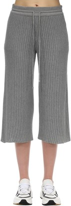 Falke Cropped Cotton Rib Knit Pants