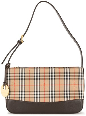 Burberry Pre-Owned Horse Check Shoulder Bag